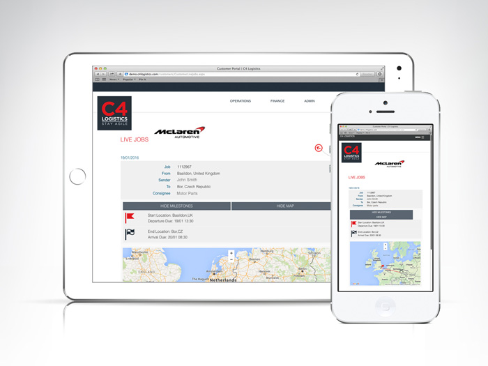 C4 Sight Customer Ipad App